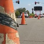 Construction slows commute on Montezuma Road