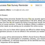 Student Success Fee survey closes with low participation