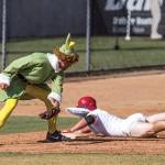 Baseball players spook spectators