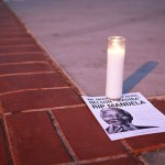 Students for Justice in Palestine hold vigil for Nelson Mandela