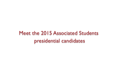[VIDEO] Meet the A.S. presidential candidates before voting
