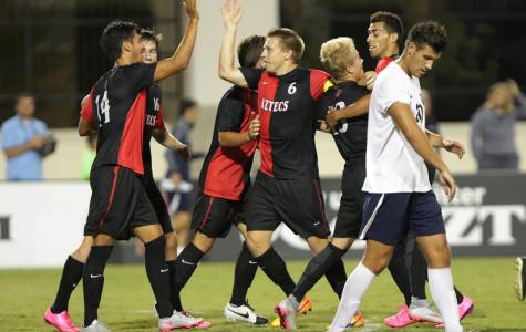 SDSU men's soccer upsets No. 16 UCLA on Senior Night