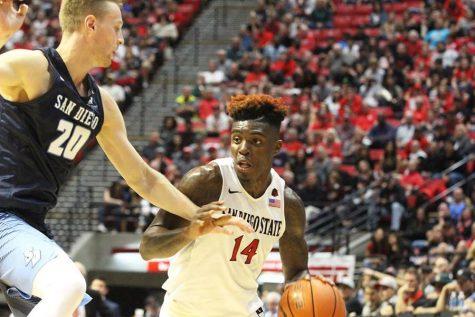 Aztec basketball drops Boise State, 87-68, advances to MW semifinal