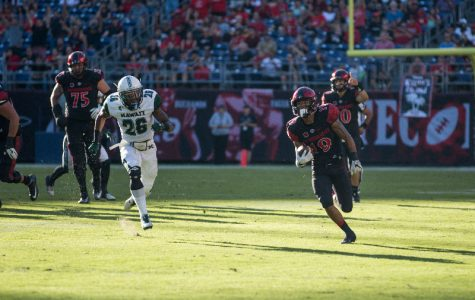 Aztecs rush for a school-record 474 yards in 46-16 win over Nevada