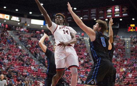 Aztecs topple CSUSM in final dress rehearsal, 80-42