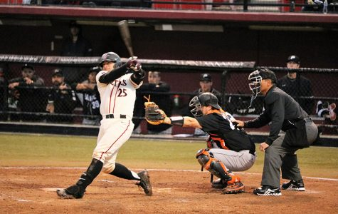 Aztecs' bats come alive in Sin City