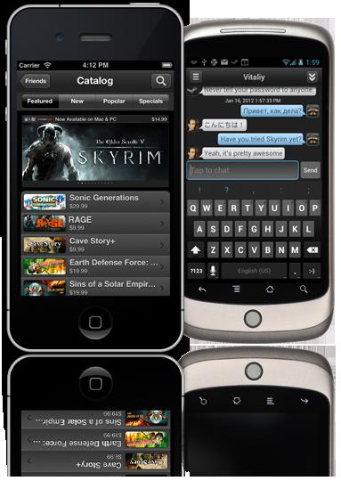 Aztec Gaming: Steam unveils mobile app